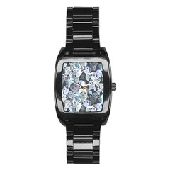 Ghosts Blue Sinister Helloween Face Mask Stainless Steel Barrel Watch