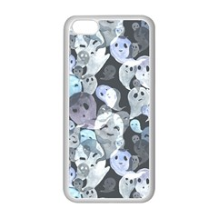 Ghosts Blue Sinister Helloween Face Mask Apple Iphone 5c Seamless Case (white)