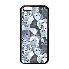 Ghosts Blue Sinister Helloween Face Mask Apple Iphone 6/6s Black Enamel Case