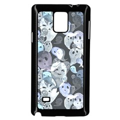 Ghosts Blue Sinister Helloween Face Mask Samsung Galaxy Note 4 Case (black)