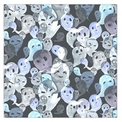 Ghosts Blue Sinister Helloween Face Mask Large Satin Scarf (square)