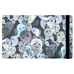 Ghosts Blue Sinister Helloween Face Mask Apple Ipad Pro 12 9   Flip Case