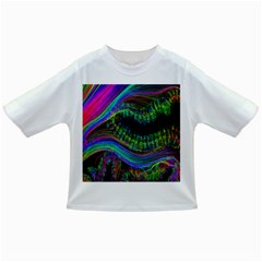 Aurora Wave Colorful Space Line Light Neon Visual Cortex Plate Infant/toddler T Shirts