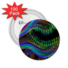 Aurora Wave Colorful Space Line Light Neon Visual Cortex Plate 2 25  Buttons (100 Pack)
