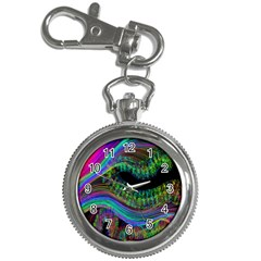 Aurora Wave Colorful Space Line Light Neon Visual Cortex Plate Key Chain Watches