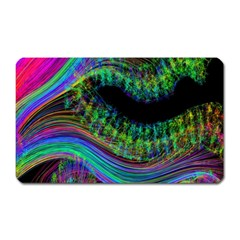 Aurora Wave Colorful Space Line Light Neon Visual Cortex Plate Magnet (rectangular)