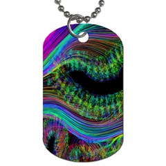 Aurora Wave Colorful Space Line Light Neon Visual Cortex Plate Dog Tag (one Side)