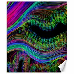 Aurora Wave Colorful Space Line Light Neon Visual Cortex Plate Canvas 8  X 10