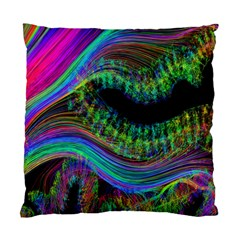 Aurora Wave Colorful Space Line Light Neon Visual Cortex Plate Standard Cushion Case (one Side)