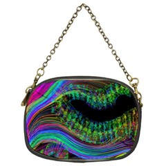 Aurora Wave Colorful Space Line Light Neon Visual Cortex Plate Chain Purses (two Sides)