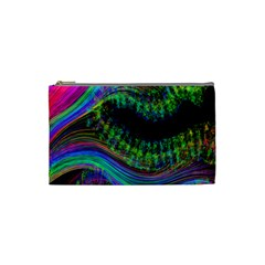 Aurora Wave Colorful Space Line Light Neon Visual Cortex Plate Cosmetic Bag (small)