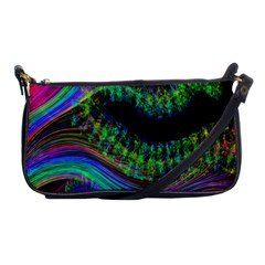 Aurora Wave Colorful Space Line Light Neon Visual Cortex Plate Shoulder Clutch Bags