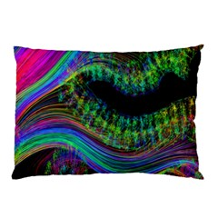 Aurora Wave Colorful Space Line Light Neon Visual Cortex Plate Pillow Case (two Sides)