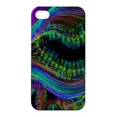 Aurora Wave Colorful Space Line Light Neon Visual Cortex Plate Apple Iphone 4/4s Hardshell Case