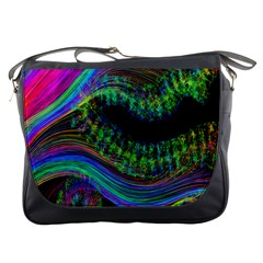 Aurora Wave Colorful Space Line Light Neon Visual Cortex Plate Messenger Bags