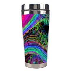 Aurora Wave Colorful Space Line Light Neon Visual Cortex Plate Stainless Steel Travel Tumblers