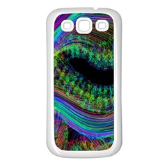 Aurora Wave Colorful Space Line Light Neon Visual Cortex Plate Samsung Galaxy S3 Back Case (white)