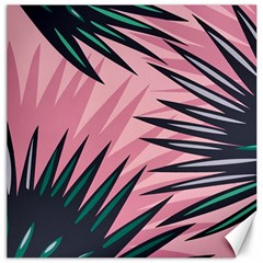 Graciela Detail Petticoat Palm Pink Green Canvas 20  X 20