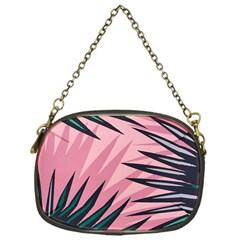 Graciela Detail Petticoat Palm Pink Green Chain Purses (one Side)