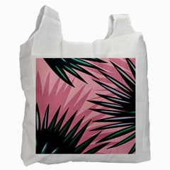 Graciela Detail Petticoat Palm Pink Green Recycle Bag (two Side)