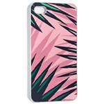 Graciela Detail Petticoat Palm Pink Green Apple iPhone 4/4s Seamless Case (White) Front