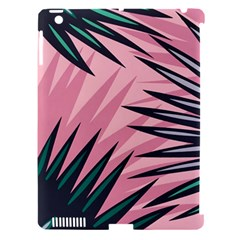 Graciela Detail Petticoat Palm Pink Green Apple Ipad 3/4 Hardshell Case (compatible With Smart Cover)