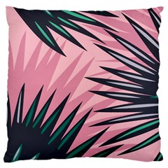 Graciela Detail Petticoat Palm Pink Green Standard Flano Cushion Case (one Side)
