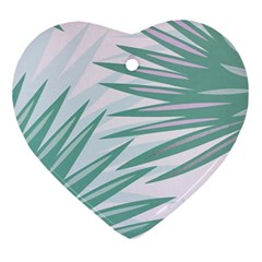 Graciela Detail Petticoat Palm Pink Green Gray Ornament (heart)