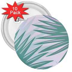 Graciela Detail Petticoat Palm Pink Green Gray 3  Buttons (10 Pack)