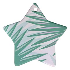 Graciela Detail Petticoat Palm Pink Green Gray Star Ornament (two Sides)