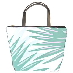 Graciela Detail Petticoat Palm Pink Green Gray Bucket Bags