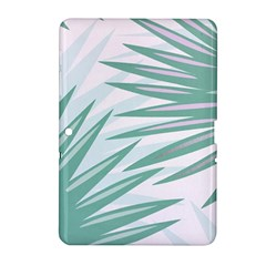 Graciela Detail Petticoat Palm Pink Green Gray Samsung Galaxy Tab 2 (10 1 ) P5100 Hardshell Case