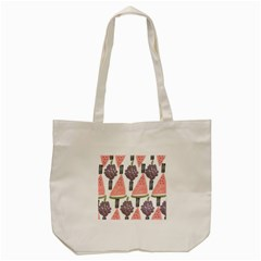 Grapes Watermelon Fruit Patterns Bouffants Broken Hearts Tote Bag (cream)