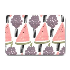 Grapes Watermelon Fruit Patterns Bouffants Broken Hearts Small Doormat