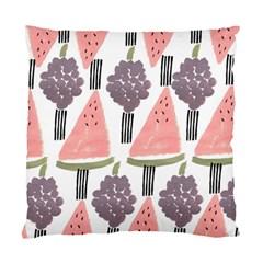 Grapes Watermelon Fruit Patterns Bouffants Broken Hearts Standard Cushion Case (one Side)