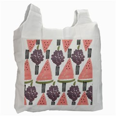 Grapes Watermelon Fruit Patterns Bouffants Broken Hearts Recycle Bag (one Side)