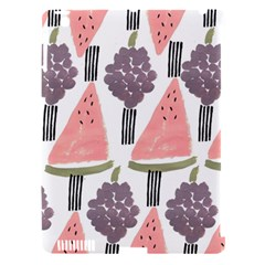 Grapes Watermelon Fruit Patterns Bouffants Broken Hearts Apple Ipad 3/4 Hardshell Case (compatible With Smart Cover)