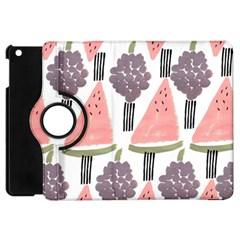 Grapes Watermelon Fruit Patterns Bouffants Broken Hearts Apple Ipad Mini Flip 360 Case