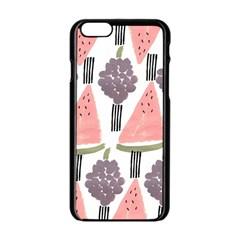 Grapes Watermelon Fruit Patterns Bouffants Broken Hearts Apple Iphone 6/6s Black Enamel Case