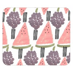 Grapes Watermelon Fruit Patterns Bouffants Broken Hearts Double Sided Flano Blanket (small)