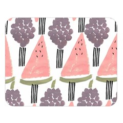 Grapes Watermelon Fruit Patterns Bouffants Broken Hearts Double Sided Flano Blanket (large)