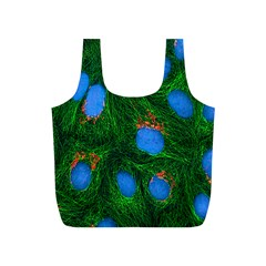 Fluorescence Microscopy Green Blue Full Print Recycle Bags (s)