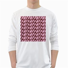 Letter Font Zapfino Appear White Long Sleeve T Shirts