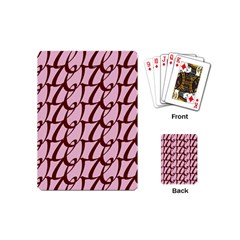 Letter Font Zapfino Appear Playing Cards (mini)