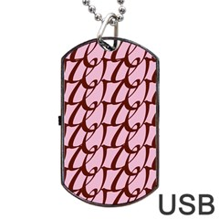 Letter Font Zapfino Appear Dog Tag Usb Flash (two Sides)