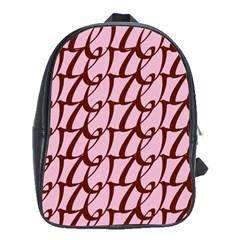 Letter Font Zapfino Appear School Bag (xl)