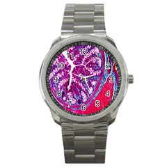Histology Inc Histo Logistics Incorporated Masson s Trichrome Three Colour Staining Sport Metal Watch