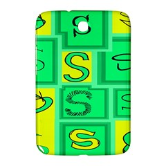 Letter Huruf S Sign Green Yellow Samsung Galaxy Note 8 0 N5100 Hardshell Case