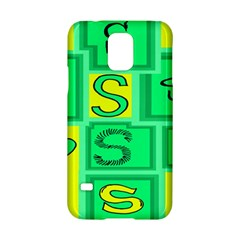 Letter Huruf S Sign Green Yellow Samsung Galaxy S5 Hardshell Case