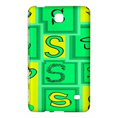 Letter Huruf S Sign Green Yellow Samsung Galaxy Tab 4 (7 ) Hardshell Case